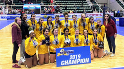 Girls varsity volleyball team state champions