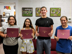 VHS Announces September's Students of the Month