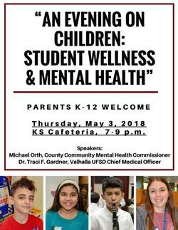 An Evening On Children Student Wellness Mental Health News And
