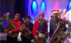 Viking Musicians Participate in Tuba Christmas Spectacular