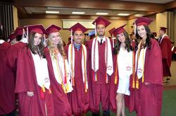 Seniors at commencement