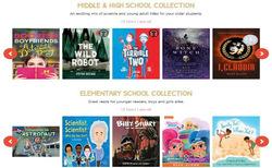 Screenshot of summer reading website