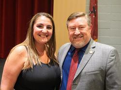 Ms. McDonald (left) with Mr. Thomas